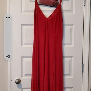 Lingerie gown with thong panties